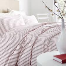red ticking stripe duvet cover