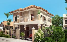 majestic design ideas two story house plans rear balcony 11 php on home