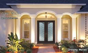 elegant double front doors. Glass Entry Doors Etched Waves Elegant Double Front D