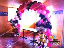 Pink And Black Minnie Mouse Decorations Party Decorations Miami Balloon Sculptures