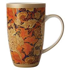 william morris acanthus coupe mug 420ml