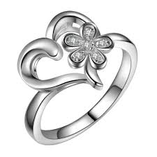 Ladies Ring Size Chart Beautiful Charms Love Heart Flower Wholesale 925 Jewelry