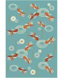 a blue and orange rug carpet for through david e adler inc