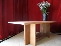 mahogany coffee table. FATSTICK African Mahogany Coffee Table - End View