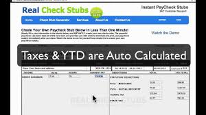 paycheck stub creator how to make a paycheck stub september 2013 youtube