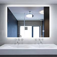 bathroom mirror with lighting. Alice Dimmable LED Backlit Mirror Illuminated Bathroom With Anti-fog Function And Touch Botton 36\u2033x28\u2033 Lighting