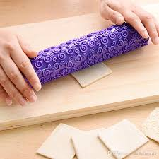Patterned Rolling Pin Interesting Best Non Stick Patterned Rolling Pin Fondant Embossed Roller Mold