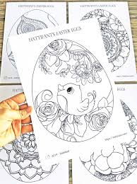 On this set of printable easter coloring pages, you will find easter eggs, lamb, bunny, and other symbols commonly associated with this beautiful time. Coloring Pages Easter Eggs Hattifant