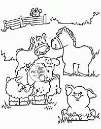 Coloring Pages Small Farm Animals Coloring Sheetfarm Sheet Pdffarm
