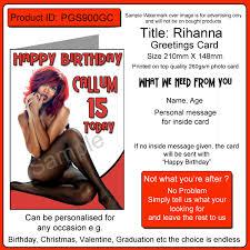 Birthday Personalised Card Pgs900gc Rihanna A5