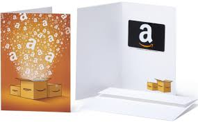amazon gift card with envelope