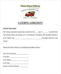 Catering Agreement 9 Sample Catering Contract Agreement Templates Word Docs