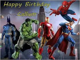 A4 Superhero Super Hero Hulk Spiderman Edible Icing Or Wafer