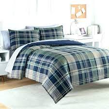 blue plaid comforter bedding green set and sets navy quilt full pla