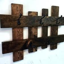 Wooden Coat Hook Rack Rustic Coat Hanger Wall Mounted Wooden Coat Rack Plans Best Ideas On 70