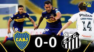 Boca Juniors VS Santos [0-0] | RESUMEN Y MEJORES JUGADAS | Semifinal - Ida  | Copa Libertadores 2021 - YouTube