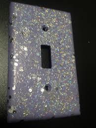 Decorative Light Switch Plates Introductory Price Cute Sparkly Dark Blue Indigo Glitter