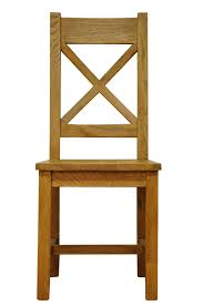 Stanton Cross Back Rustic Oak Dining Chair with Seat |