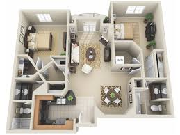 Great For The 2 Bedroom Floor Plan.