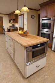 Perfect Kitchen Island With A Built In Microwave