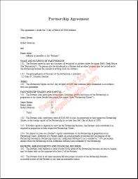 Partnership Agreement Sample Image
