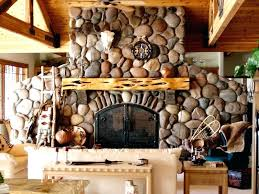 rock fireplace creek river rock fireplace stone fireplace mantels with tv