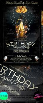 Birthday Flyers Template Birthday Royal Party Flyer Template By Stormclub GraphicRiver 17
