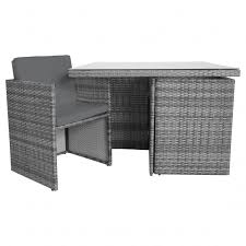 charles bentley 4 seater rattan cube