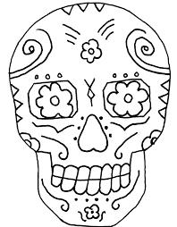 Small Picture Skull And Day Of The Dead Coloring Pages Color Dia de los