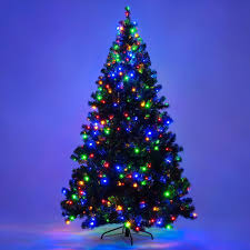Artificial Christmas Tree With C9 Lights 7 5 Ft Pre Lit Artificial Christmas Tree With 550 Multicolor