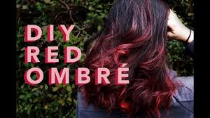 DIY RED/AUBURN <b>OMBRE</b> on VIRGIN <b>HAIR</b> // tutorial - YouTube