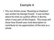 literary analysis essay shooting an elephant essay writing on literary analysis essay shooting an elephant