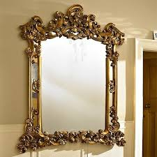 extra large gold ornate wall mirror