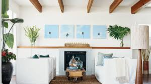 Beach House White Living Room Photo Gallery