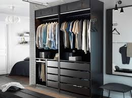 pax wardrobe lighting. A Modern Bedroom With An Open Black-brown PAX Wardrobe Combination, STRIBERG Lighting Pax