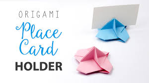 Learn How To Make An Origami Place Card Holder For Weddings