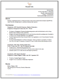 Engineering Mba Finance Resume Sample 1 Career Pinterest