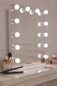 Large Light Mirror Hollywood Light Up Wall Mirror Small Led Decor Nz Lit White