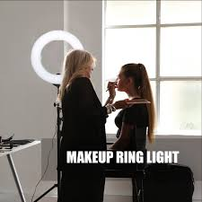 Table Ring Light For Makeup Us 68 79 55 Off Zomei Dimmable Led Studio Selfie Ring Light Photographic Lighting Lamp Makeup With Stand For Camera Photo Youtube Video Shooting In