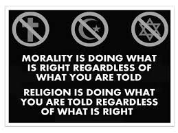 did religions create morals or did morals create religions morality