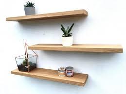 solid oak floating shelves uk