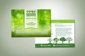 Lawn Care Brochure Serious Colorful Lawn Care Flyer Design For Brooks Yard Service By