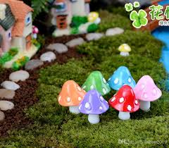 20pcs mushroom miniature fairy figurines jpg