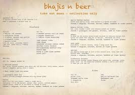 Takeout Menu - Picture Of Bhajis N Beer, Bradford - Tripadvisor