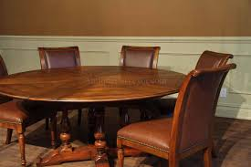 Round Dining Table With Hidden Leaves Solid Walnut Reclaimed - Walnut dining room furniture