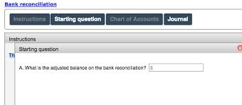 Bank Reconciliation Chart Solved Bank Reconciliation Instructions Starting Question