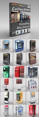 Retro Vending Machine Vol 1 Impressive DigitalXModels 48D Model Collection Volume 48 VENDING MACHINES