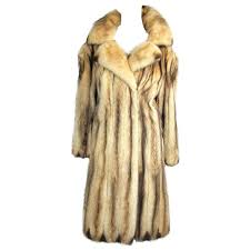 stunning russian fitch fur coat for