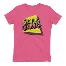 80s T Shirt Design Status Gruppe 80s 90s Collection Womens T Shirt Quadrilateral Echo Design