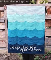 deep blue sea baby quilt tutorial | Kitchen Table Quilting &  Adamdwight.com